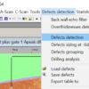 Screenshot von der Software NDTkit UT mit der Funktion zur automatischen Defekterkennung