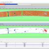 Screenshot von der Software NDTkit UT mit dem Ergebnis der automatischen Defekterkennung