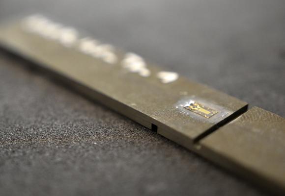 Ein Sensor auf einem Bauteil