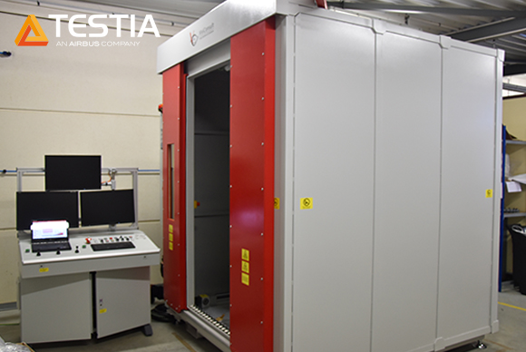 Testia's Digital Radiography machine in our Toulouse workshop
