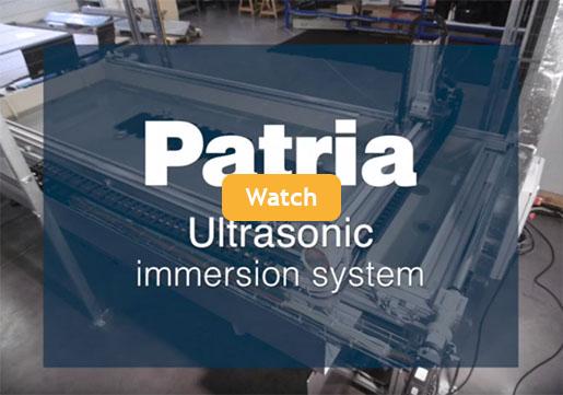 Patria Ultrasonic immersion system video still